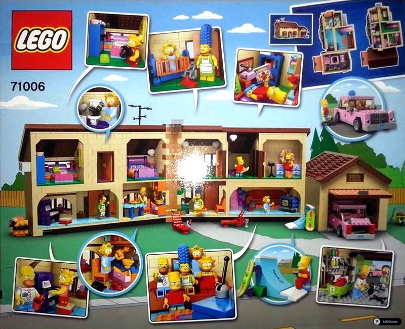 Check Out The Lego Simpsons House Interior Graphic Policy