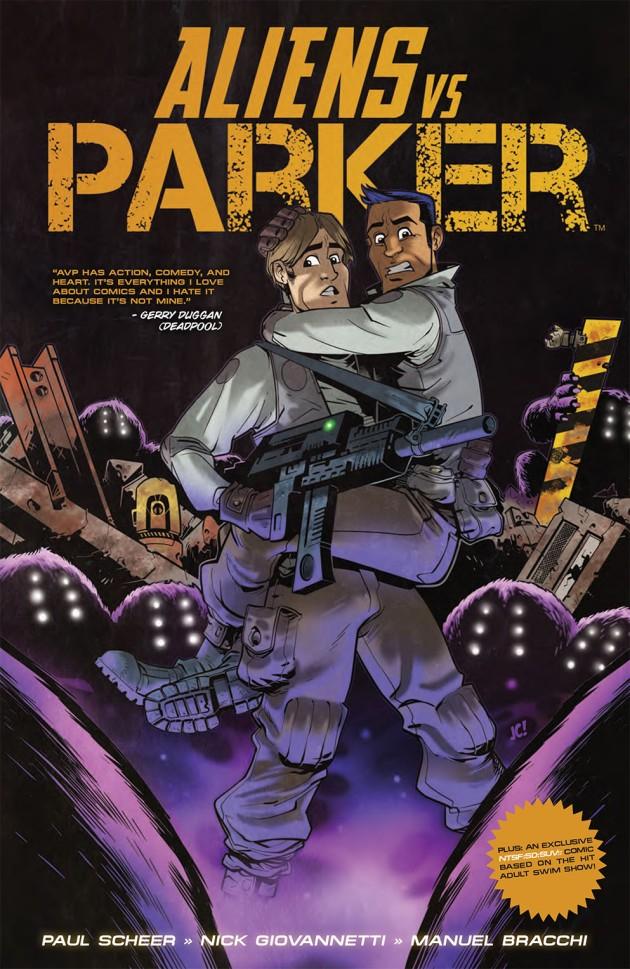 Aliens Vs Parker TP Cover