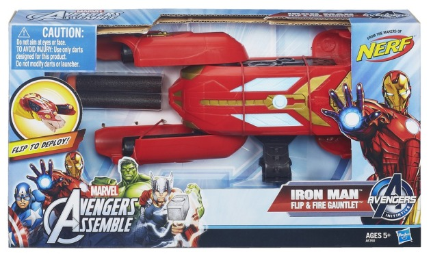 AVENGERS ASSEMBLE IRON MAN FLIP + FIRE GAUNTLET In Pack A6760