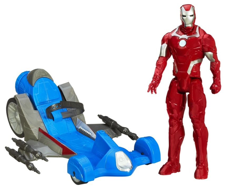 AVENGERS ASSEMBLE TITAN HERO SERIES IRON MAN wBATTLE RACER A7363