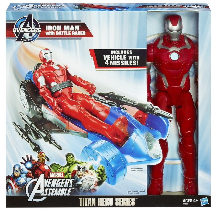 AVENGERS ASSEMBLE TITAN HERO SERIES IRON MAN wBATTLE RACER In Pack A7363