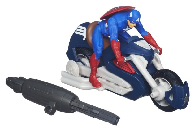 CAPTAIN AMERICA BLAST N GO COMBAT ASSAULT CYCLE A6873