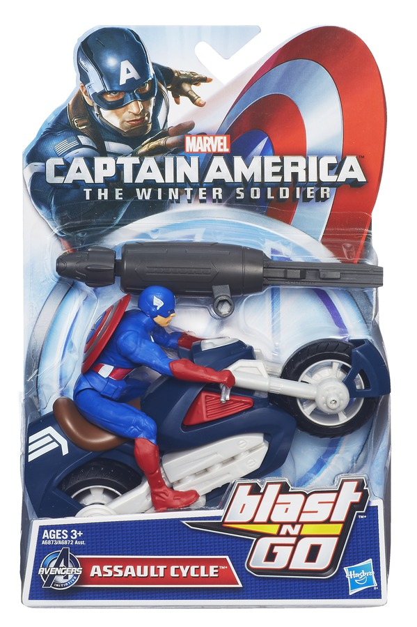 CAPTAIN AMERICA BLAST N GO COMBAT ASSAULT CYCLE In Pack A6873