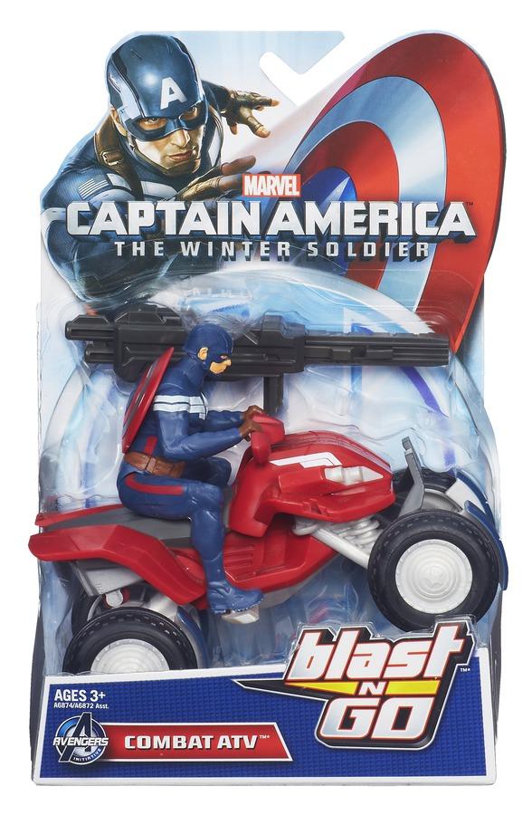 CAPTAIN AMERICA BLAST N GO COMBAT ATV In pack A6874
