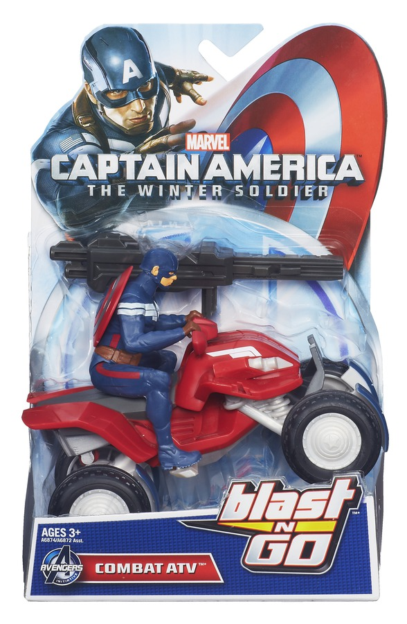 CAPTAIN AMERICA BLAST N GO COMBAT ATV In pack A6874