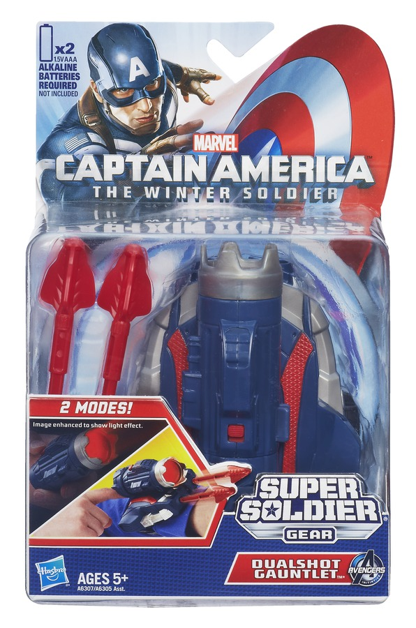CAPTAIN AMERICA SUPER SOLDIER GEAR DUAL SHOT GAUNTLET In Pack