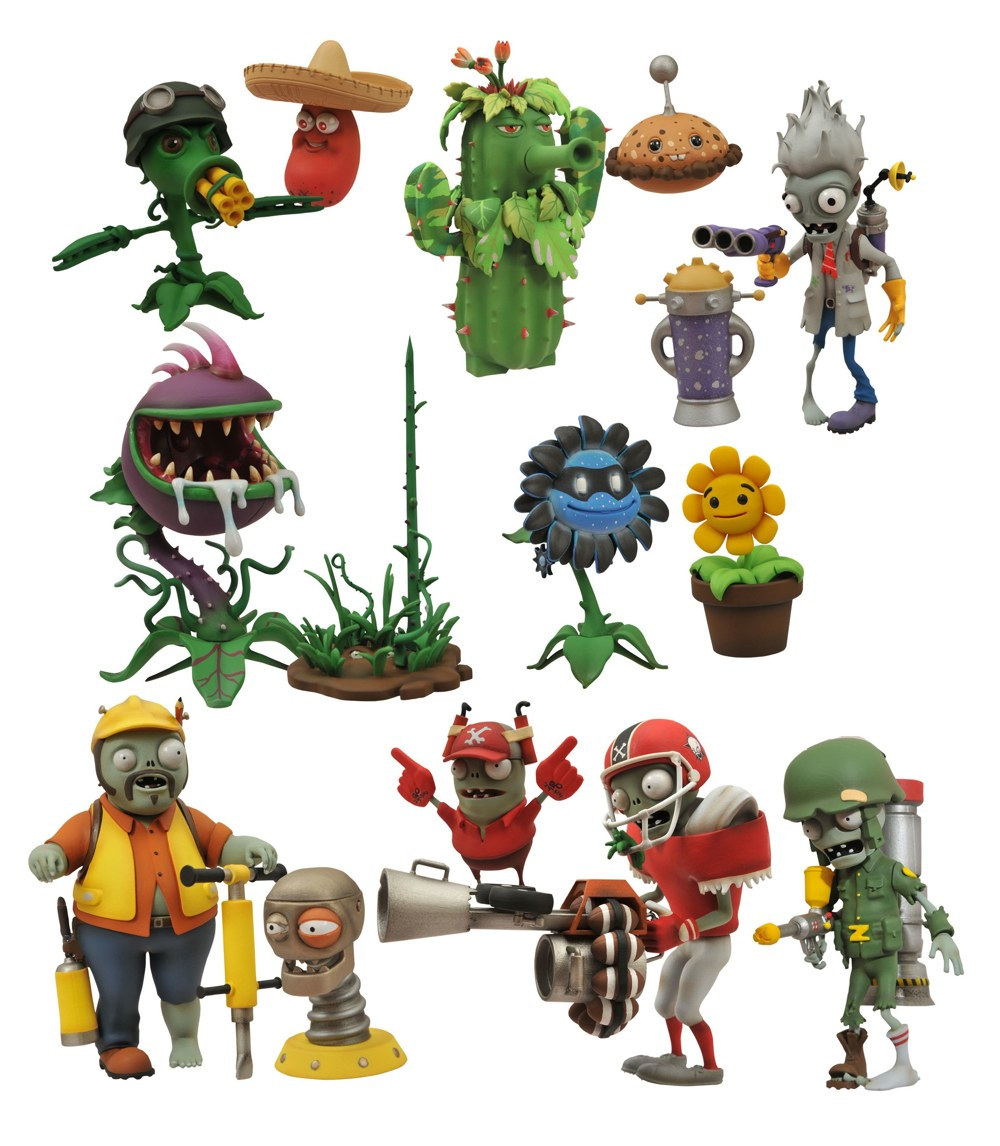 Diamond Select at Toy Fair: Plants vs. Zombies, Bluntman ...