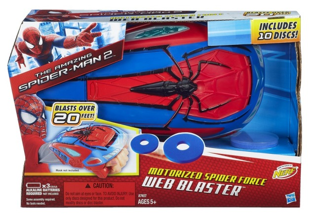 SPIDER-MAN MOTORIZED SPIDER FORCE WEB BLASTER In Pack A7407