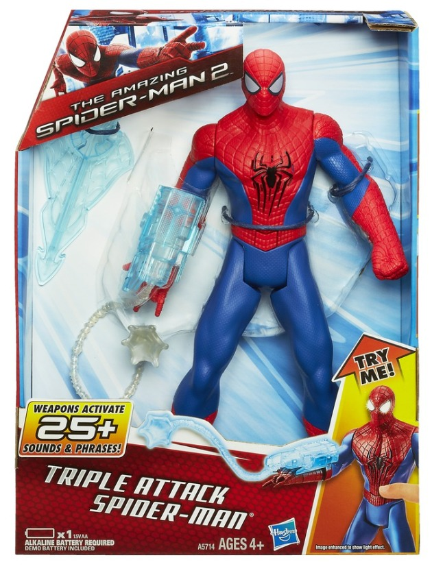SPIDER-MAN TRIPLE ATTACK ELECTRONIC SPIDER-MAN  In Pack A5714