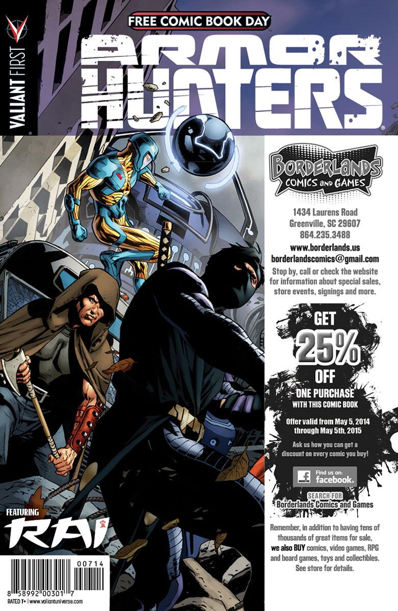 Valiant-FCBD-2014-Retailer-Variant-(Borderlands-Comics-&-Games)