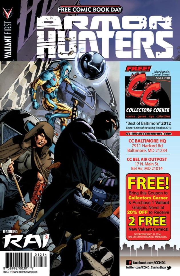 Valiant-FCBD-2014-Retailer-Variant-(Collector's-Corner)