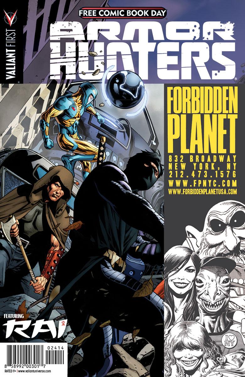 Valiant-FCBD-2014-Retailer-Variant-(Forbidden-Planet-US)