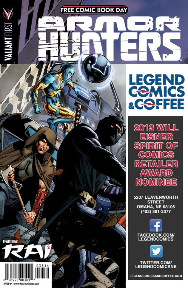 Valiant-FCBD-2014-Retailer-Variant-(Legend-Comics-&-Coffee)