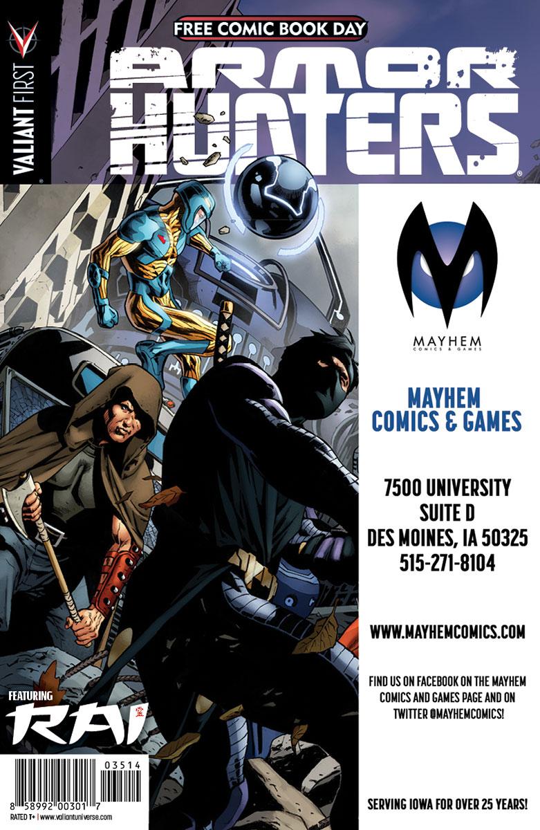 Valiant-FCBD-2014-Retailer-Variant-(Mayhem-Comics-&-Games-2)