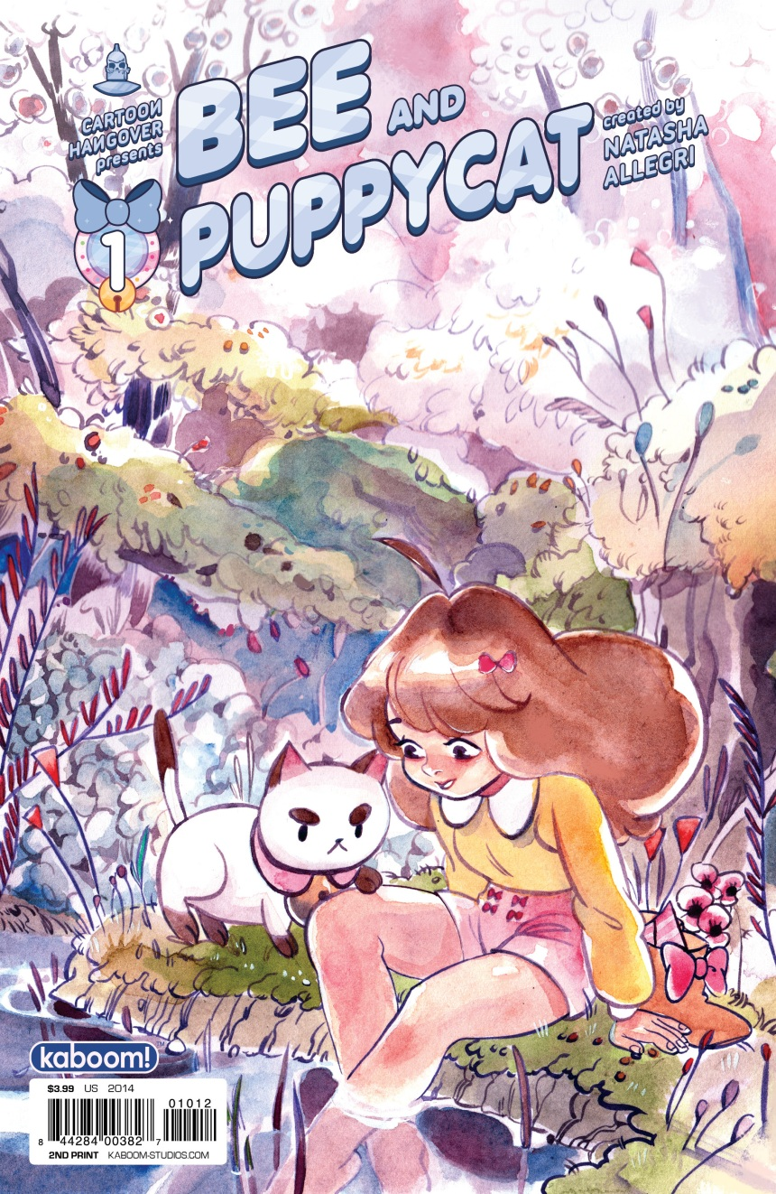 BEE AND PUPPYCAT #1 2nd Printing Cover by Leslie Hung