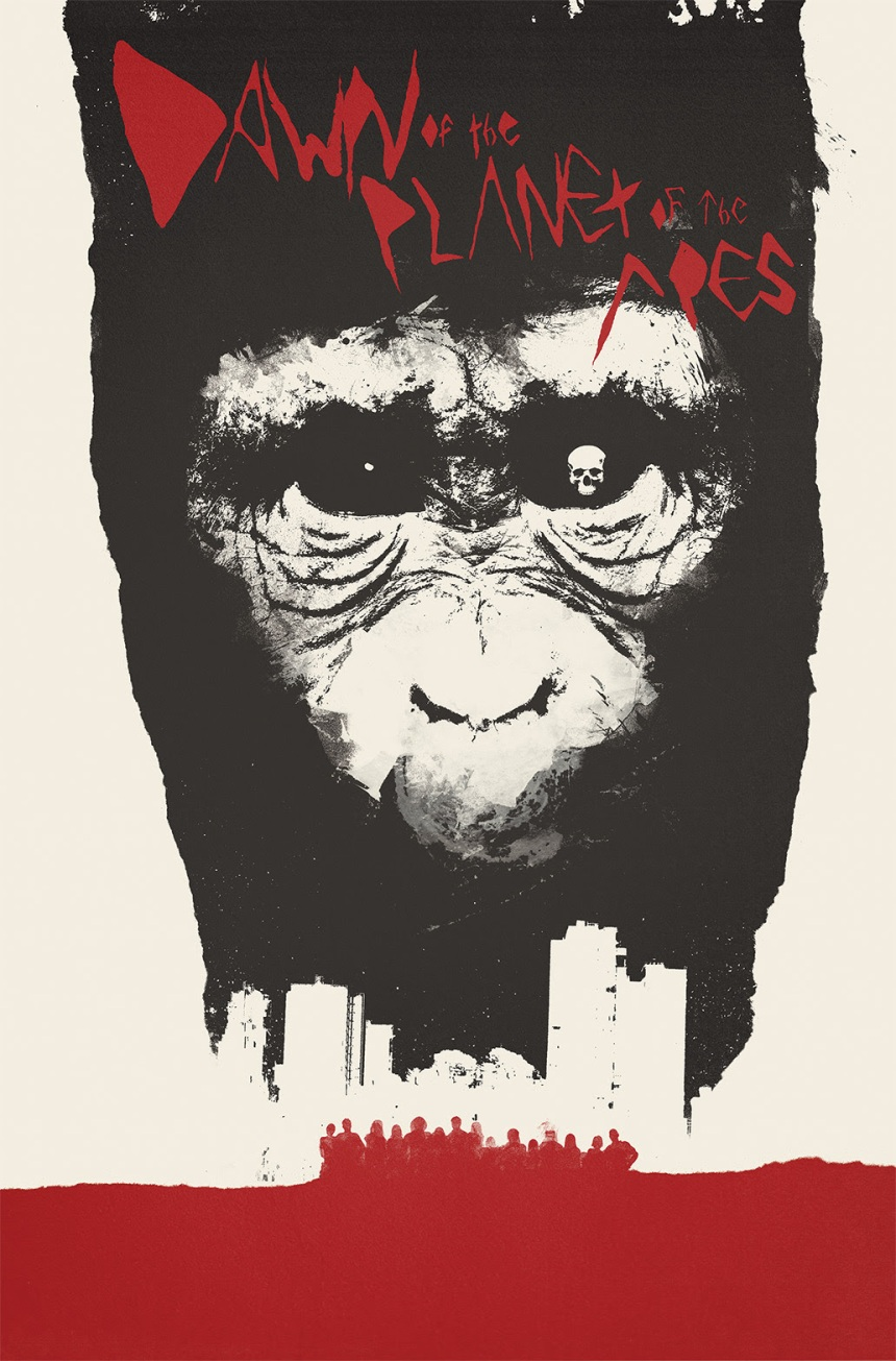 DAWN OF THE PLANET OF THE APES #1 Incentive Cover by Jay Shaw
