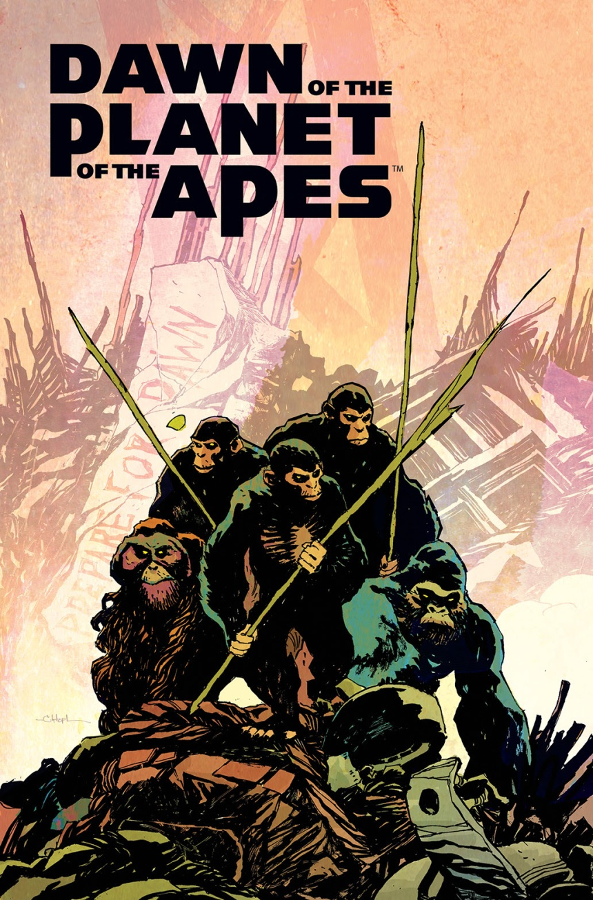 DAWN OF THE PLANET OF THE APES #1 Main Cover by Christopher Mitten