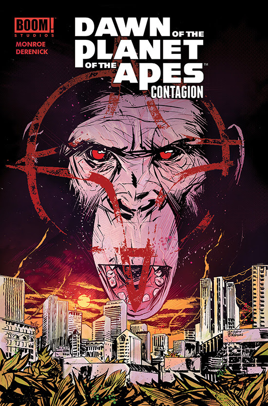 DAWN OF THE PLANET OF THE APES CONTAGION Cover by Garry Brown
