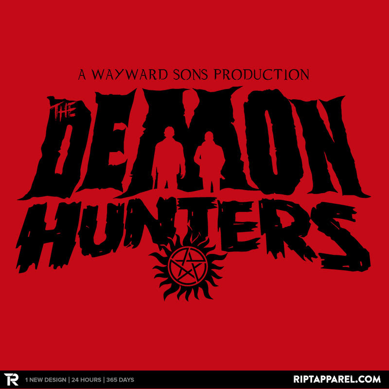 The Demon Hunters (Black on Red)