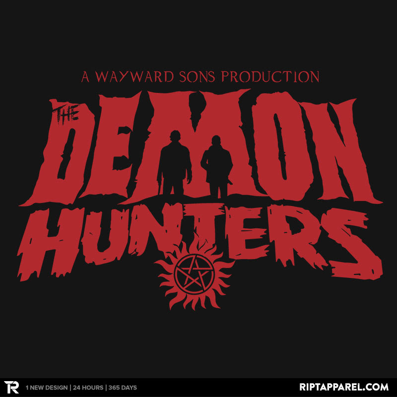 The Demon Hunters (Red on Black)