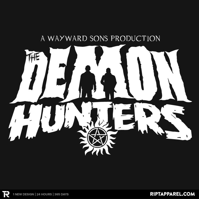 The Demon Hunters (White on Black)
