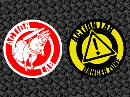 action lab and danger zone logo
