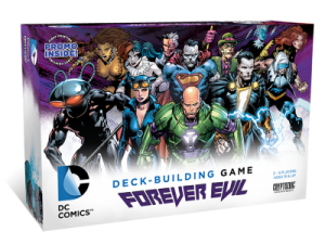 DC COMICS DECK-BUILDING GAME FOREVER EVIL box