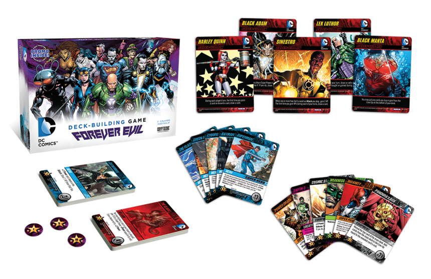 DC COMICS DECK-BUILDING GAME FOREVER EVIL contents