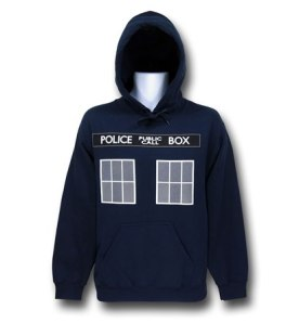 Doctor Who Blue Tardis Pullover Hoodie