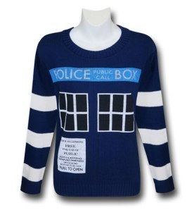 Doctor Who Women's Boyfriend Tardis Sweater
