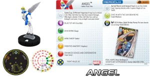 Marvel HeroClix X-Men 2014 Monthly Organized Play Angel Card