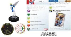 Marvel HeroClix X-Men 2014 Monthly Organized Play Angel Card