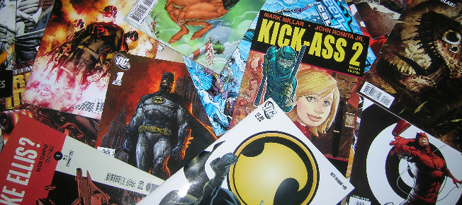 pile of comics featured