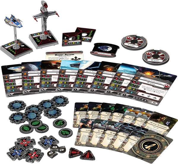 Rebel Aces Expansion Pack for X-Wing content