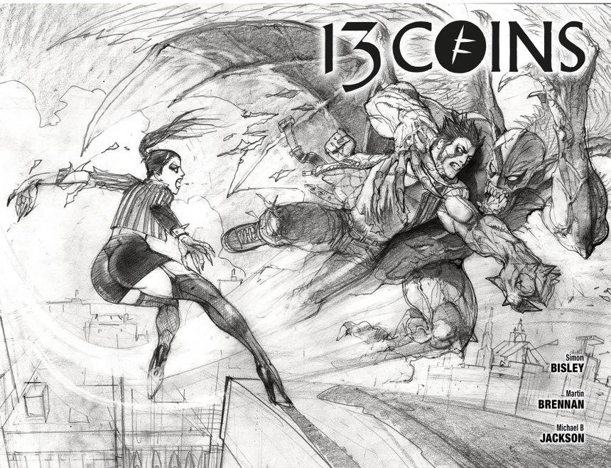 13 COINS #6_Simon Bisley b_w Wraparound Cover