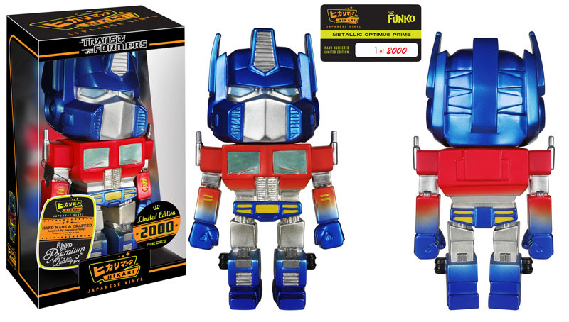 Metallic Optimus Prime Hikari Sofubi Figure