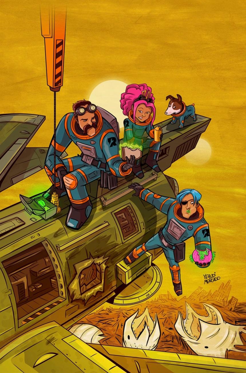 Rocket Salvage #1 Retailer Incentive Cover (1 10) by Yehudi Mercado