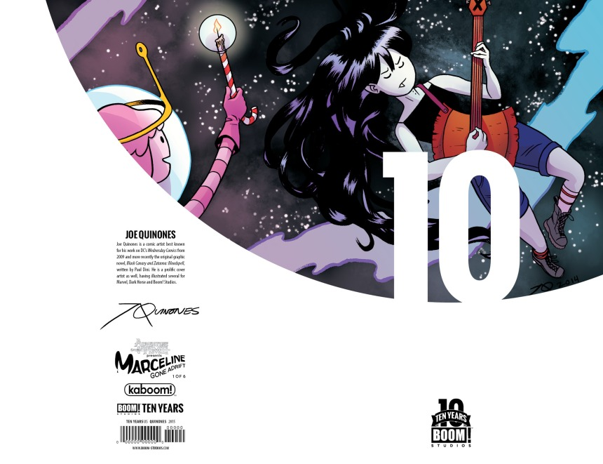 Adventure Time Marceline Gone Adrift #1 10 Years Cover by Joe Quinones