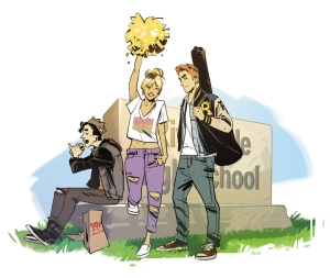Archie promotional artwork by series artist Fiona Staples.