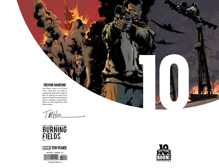 Burning Fields #1 10 Years Cover by Trevor Hairsine
