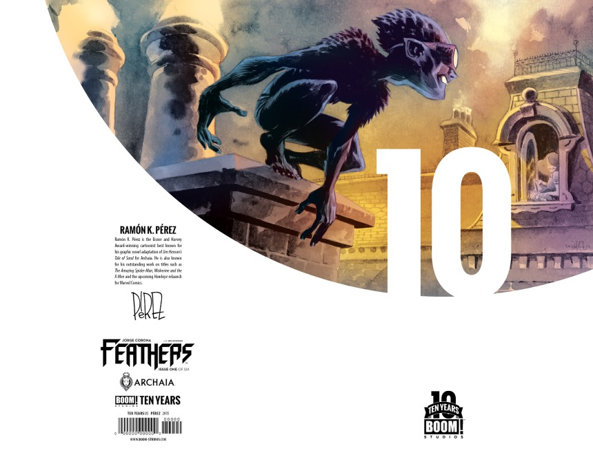 Feathers #1 10 Years Cover by Ramón K. Pérez