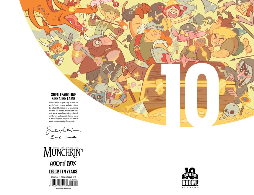 Munchkin #1 10 Years Cover by Shelli Paroline & Braden Lamb