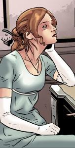 Lara Croft as Elizabeth Bennet