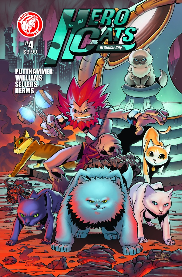HEROCATS OF STELLAR CITY #4 Cover