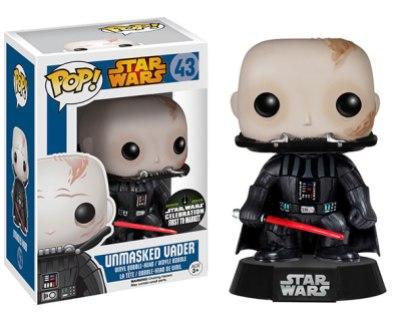 Pop! Star Wars 2015 Celebration Exclusives Unmasked Vader