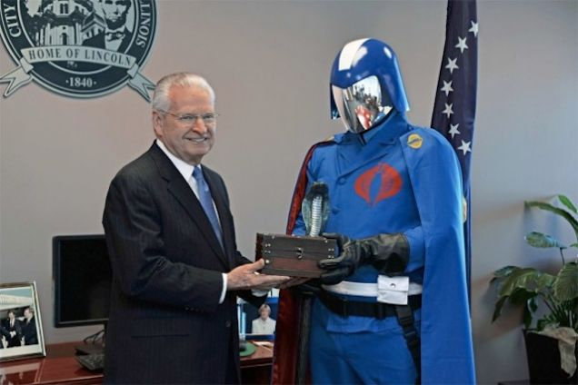 Springfield Illinois mayor J. Michael Houston Cobra Commander