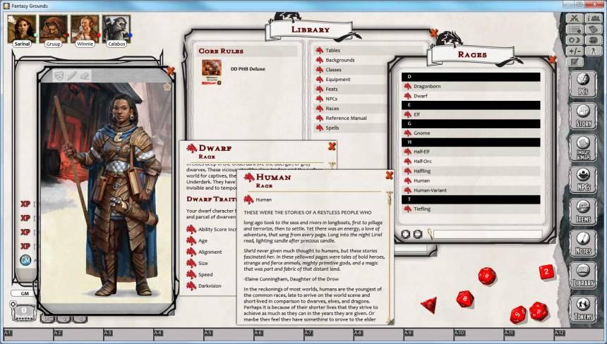 Character Race Info.