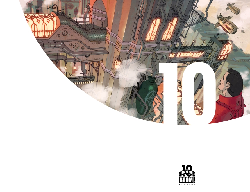 Lantern City #1 10 Years Cover by Ben Caldwell (full wraparound image shown)