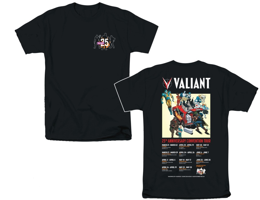 VALIANT_25th ANN CON TOUR t-shirt
