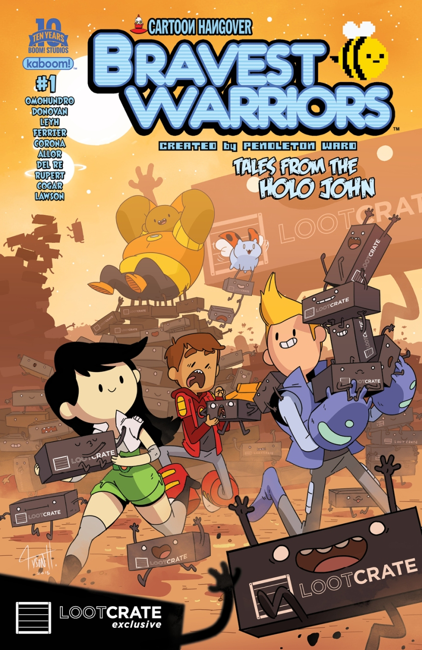 Bravest Warriors Tales from the Holo John #1 Loot Crate Variant Cover by Tyson Hesse